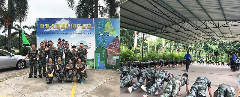 Fumei Seating Attend Outdoor training At Nanhai Training Industrial Park