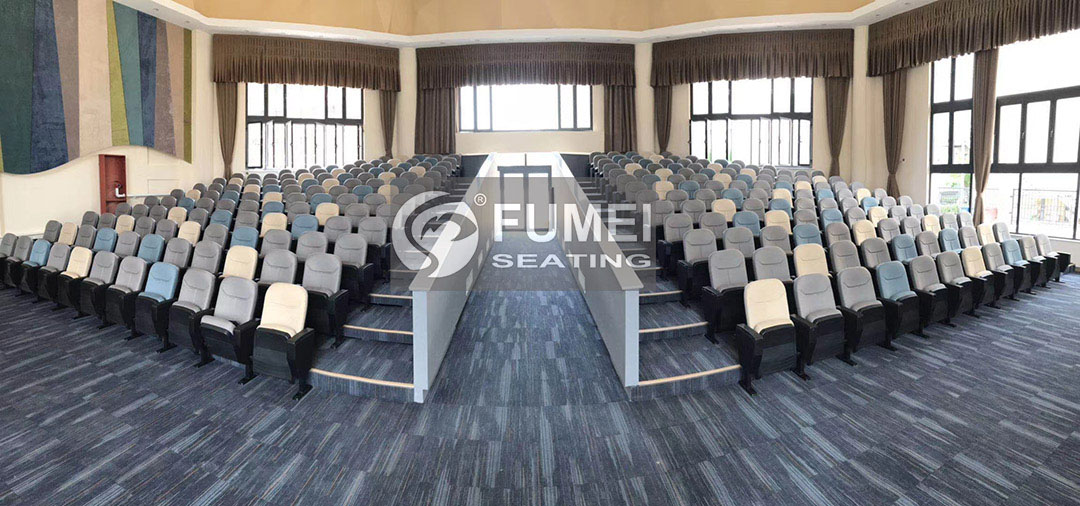 Mixed color auditorium chair case