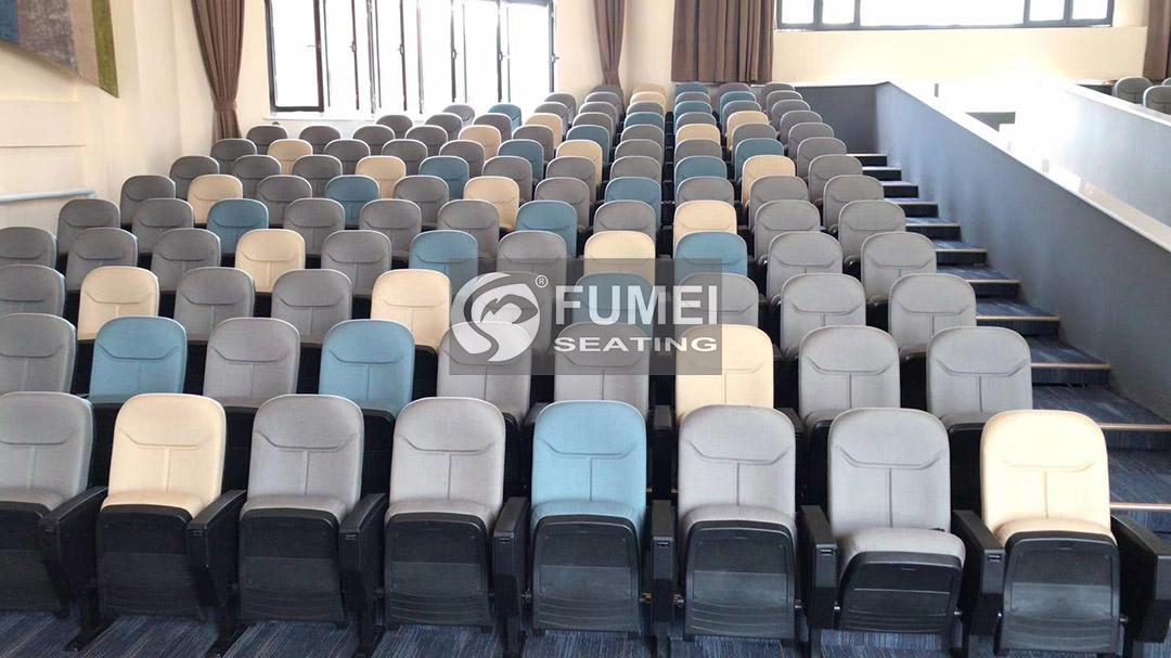 Mixed color auditorium chair case