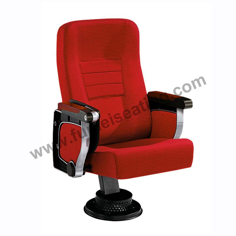 Single Leg Red Fabric High Back Theater Seats FM-213