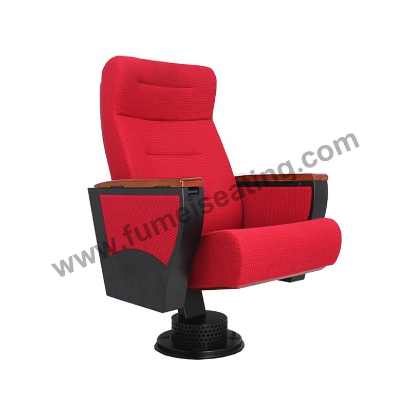Red Fabric Metal Frame Auditorium Chairs FM-223