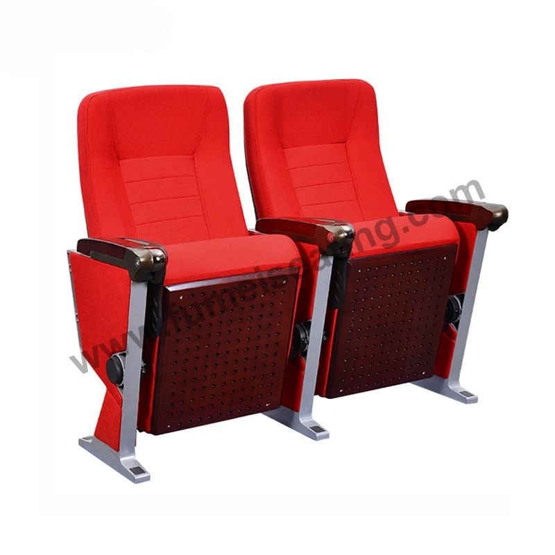 Red Fabric Aluminium Frame Church Conference Lecture Auditorium Chair FM-275