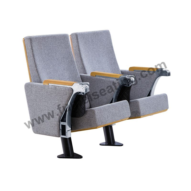 Fabric Single Leg Design Auditorium Seat With Writing Tablet FM-2019