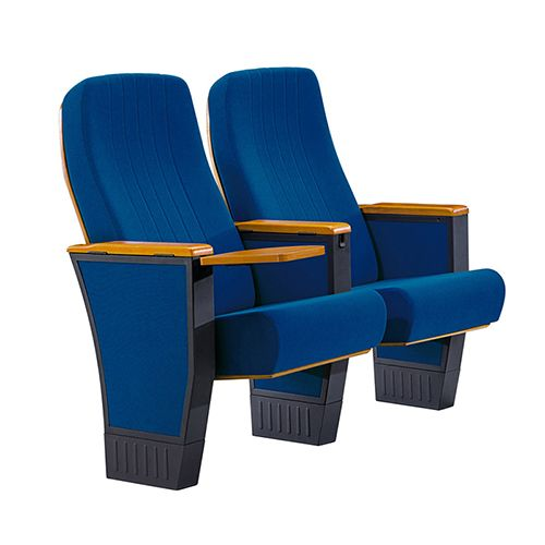 Blue Fabric Auditorium Chair With Writing Pad FM-2010