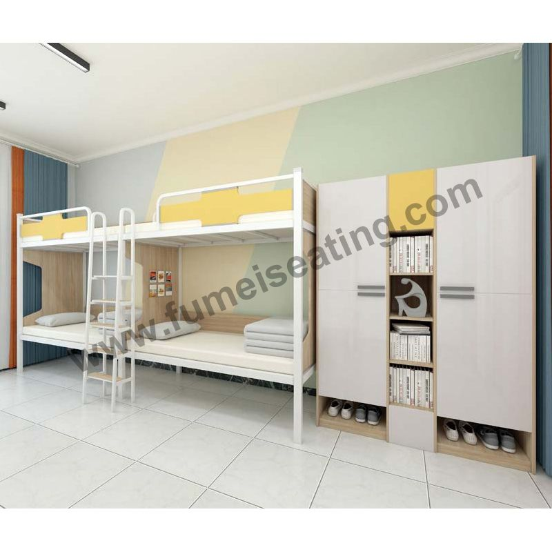 Loft Bed With Stairs College Dorm Bunk Beds P101