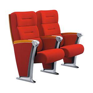 Red Fabric High Back Aluminium Frame Auditorium Chair FM-2101